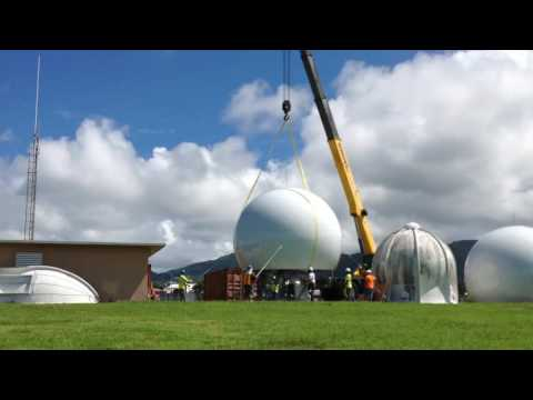 Dome Placement at Pago Pago, Samoa for NWS (Time lapse)