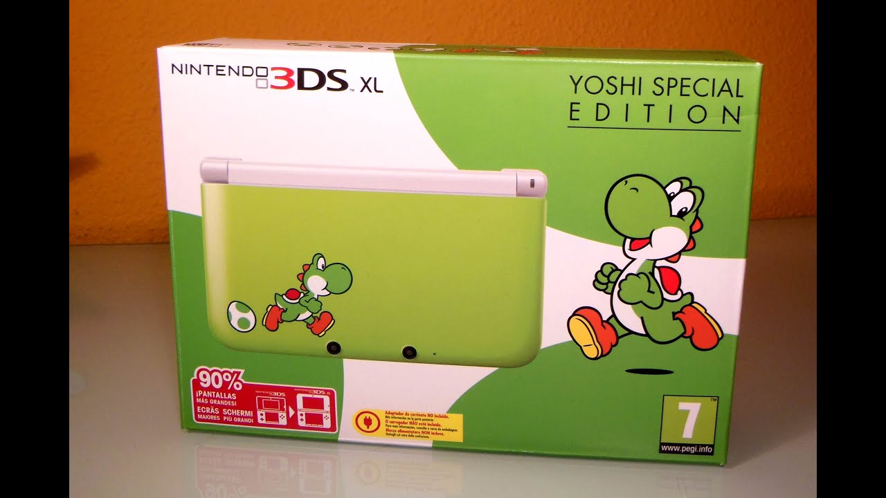 nintendo 3ds xl yoshi special edition unboxing youtube. Black Bedroom Furniture Sets. Home Design Ideas