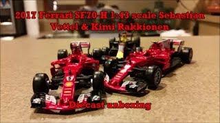 2017 Sebastian Vettel and Kimi Räikkönen Ferrari SF70H Bburago 1:43 scale Diecast Review