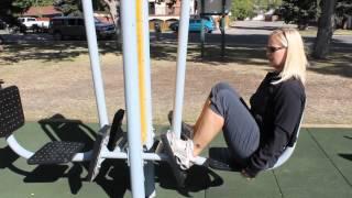 High River Outdoor Fitness Park demonstration