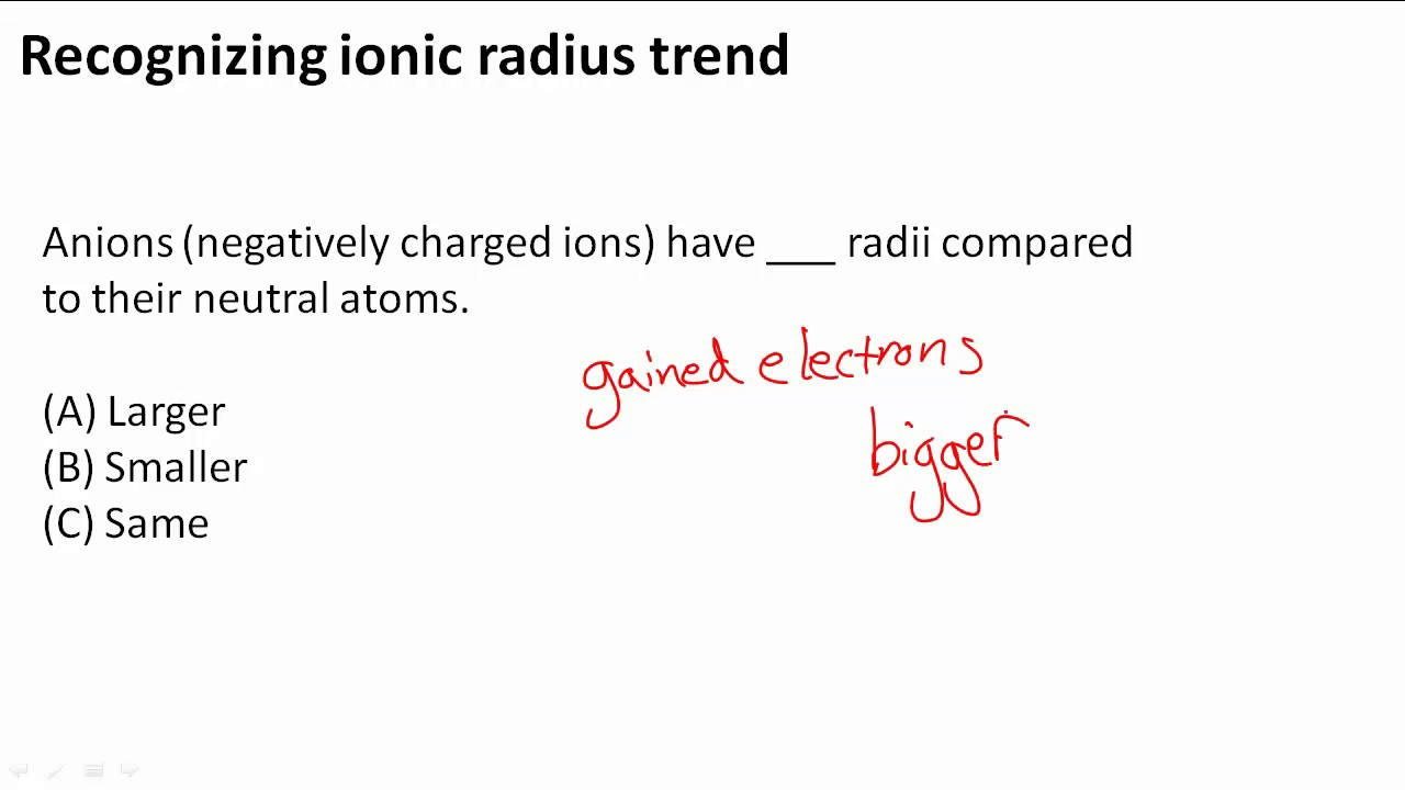 Recognizing ionic radius trend youtube gamestrikefo Choice Image