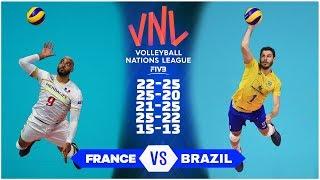 Legendary Match   France vs Brazil   Men's VNL 2018 (HD)