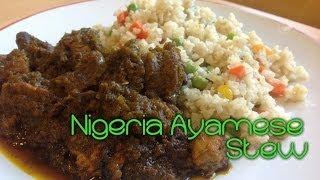 Ayamase Stew | How to make Nigerian Ayamase Stew ( Ofada Stew )