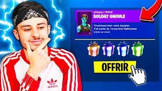 at last... OFFER SKINS TO AMIS IS DISPONIBLE ON FORTNITE!! 😱