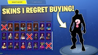 Fortnite SKINS I REGRET Buying! Waste Of V-Bucks!
