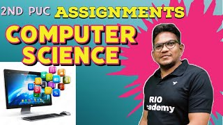 2nd PUC Computer science  | 1st Assignment | 2nd puc computer sciences assignment answers