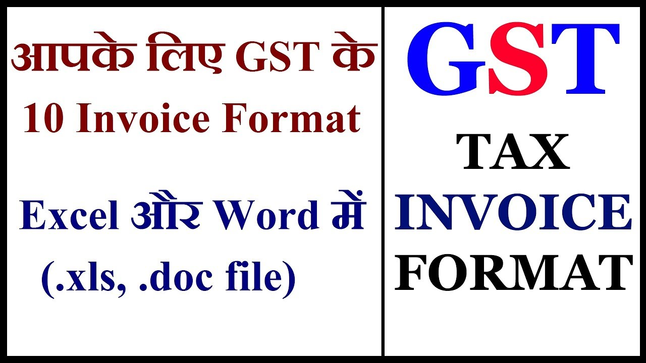Top 10 Gst Invoice Format In Excel Very Useful Gst Tax Invoice