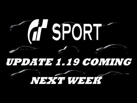 GT Sport Update 1.19 Coming Next week 9 New Cars Plus More