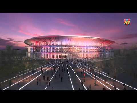 Проект нового стадиона NEW CAMP NOU футбольного клуба Барселона