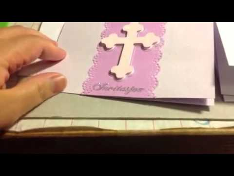 baptismal invitation - youtube, Birthday invitations
