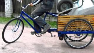 Самодельный трехколесный грузовой велосипед в работе(http://freebiefoto.com/ Website Free images and textures Сайт Бесплатных фотографий и текстур Самодельный трехколесный грузовой..., 2013-09-03T18:20:55.000Z)