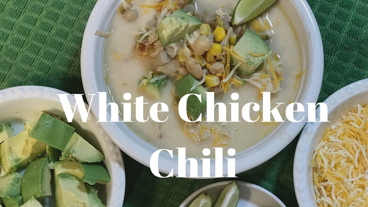 White Chicken Chili In The Slow Cooker Youtube