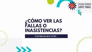 Fallas o Inasistencias a través de la plataforma COLEGIOSONLINE.COM