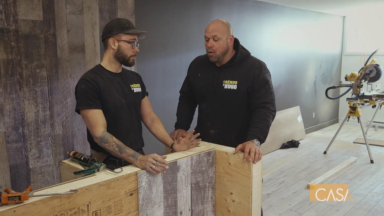 cr er un mur aux allures de bois de grange youtube. Black Bedroom Furniture Sets. Home Design Ideas