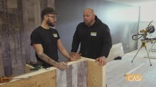 Créer un mur aux allures de bois de grange