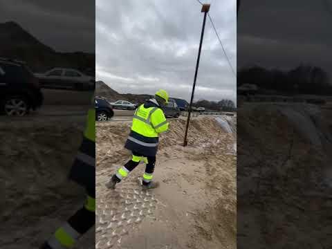 Измерение песчаного основания