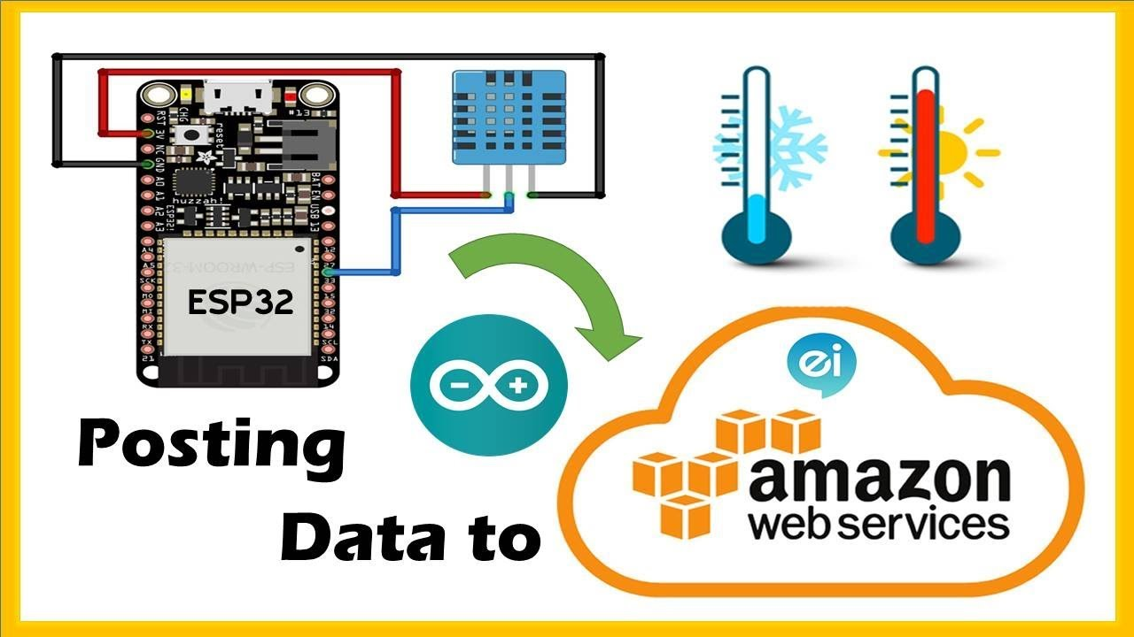 Temperature Data record on AWS IoT Core with NodeMCU-ESP32 using Arduino  IDE and MQTT Protocol