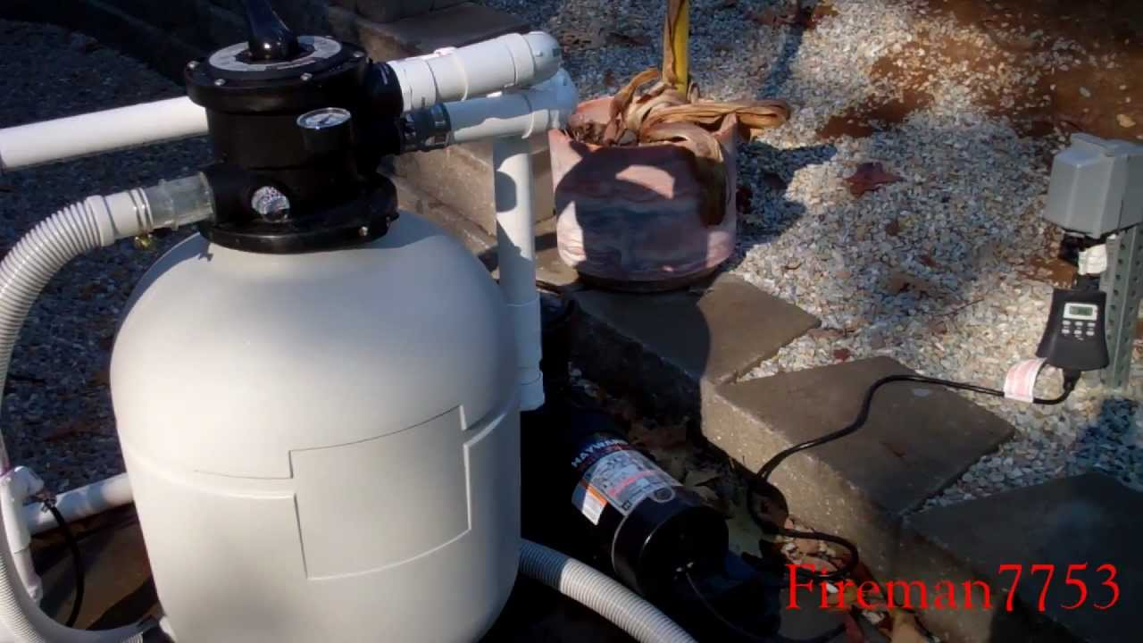 Installing A New Hayward Sand Filter Youtube