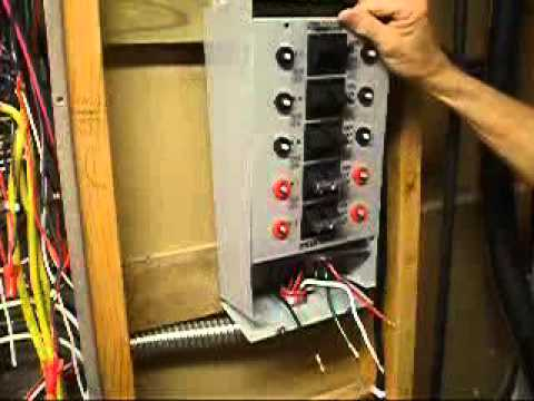Generator Transfer Switch Wiring - YouTube