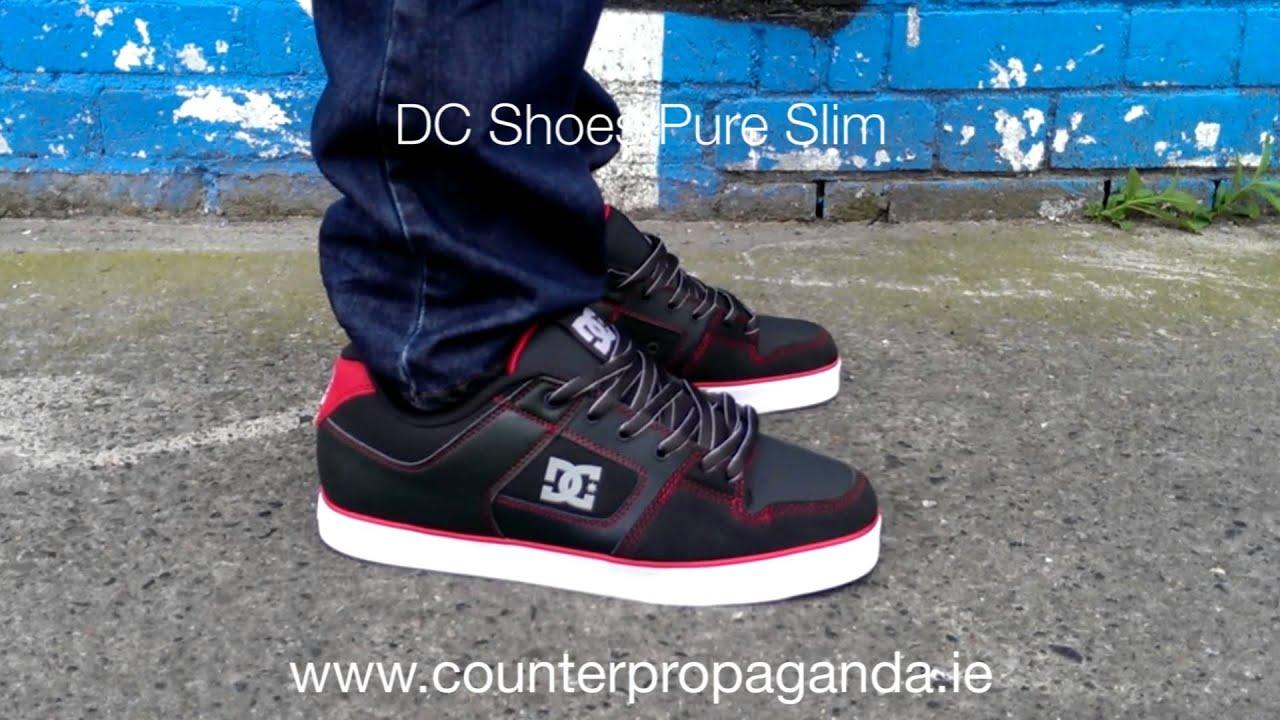 counter propaganda dc shoes pure slim black red youtube. Black Bedroom Furniture Sets. Home Design Ideas