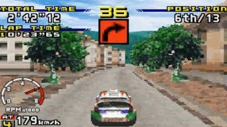 Sega Rally Championship (Gameboy Advance Gameplay)