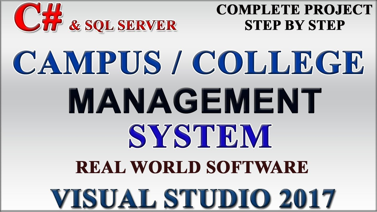 School Campus College Management System Complete Project In C