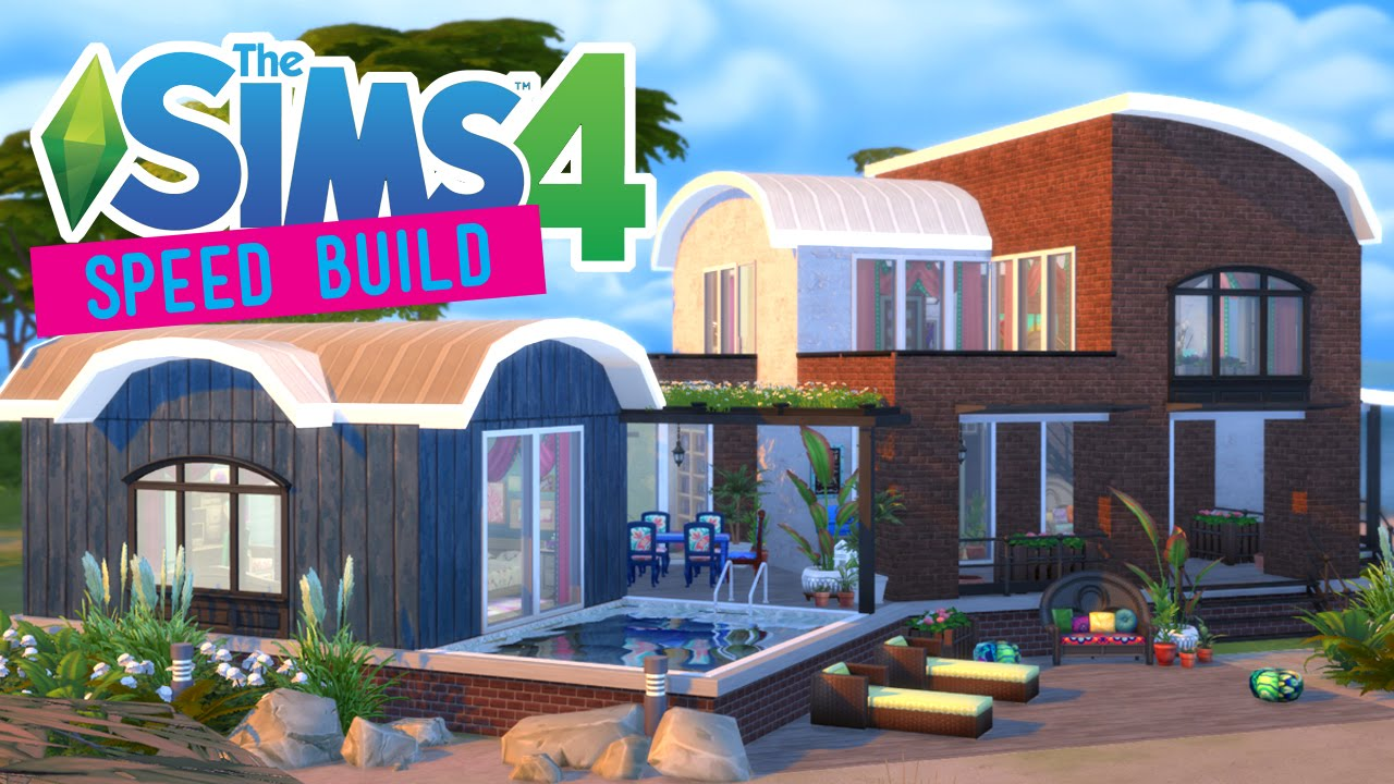 The Sims 4 -Speed Build- Bohemian Beach House! (Movie Hangout ...