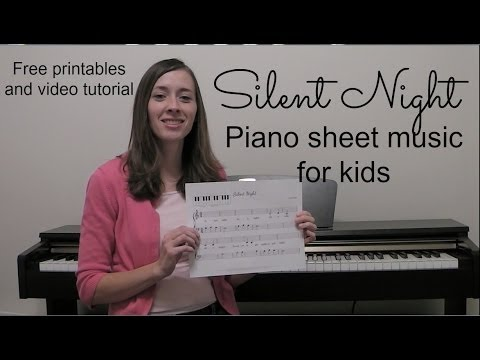Silent Night Piano Sheet Music for Kids