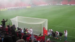 SK Slavia Praha – Bohemians Praha 1905  1-0   23.9.2018   děkovačka