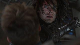 Баки спасает Стива Роджерса   Первый Мститель:Другая Война (2014)