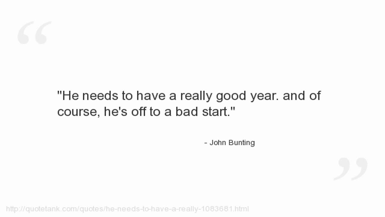 John Bunting Quotes - YouTube