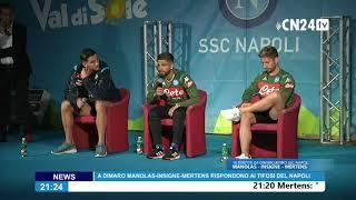Lorenzo Insigne risponde ai tifosi del Napoli a Dimaro-Folgarida