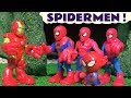 Spiderman and Avengers Iron Man funny clone tunnel story with Thomas The Tank Engine TT4U