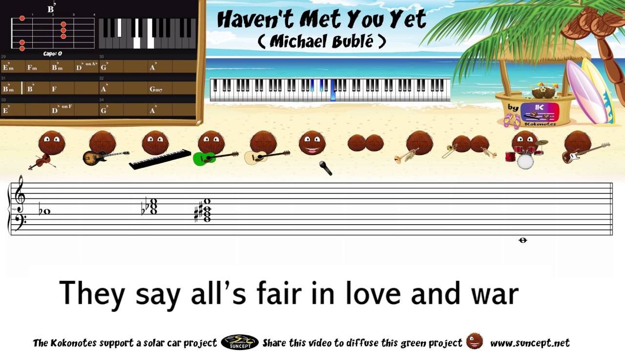 How to play havent met you yet michael bubl tutorial how to play havent met you yet michael bubl tutorial karaoke chords score cover hexwebz Choice Image