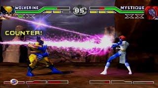 X-Men: Mutant Academy Arcade Gameplay (PlayStation,PSX,PS1)