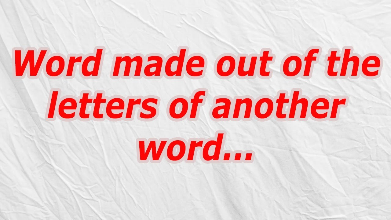 words out of letters word made out of the letters of another word codycross 25713 | maxresdefault