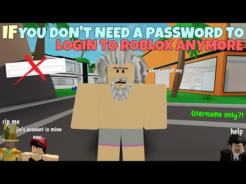 If You Don T Need A Password To Login To Roblox Anymore Youtube