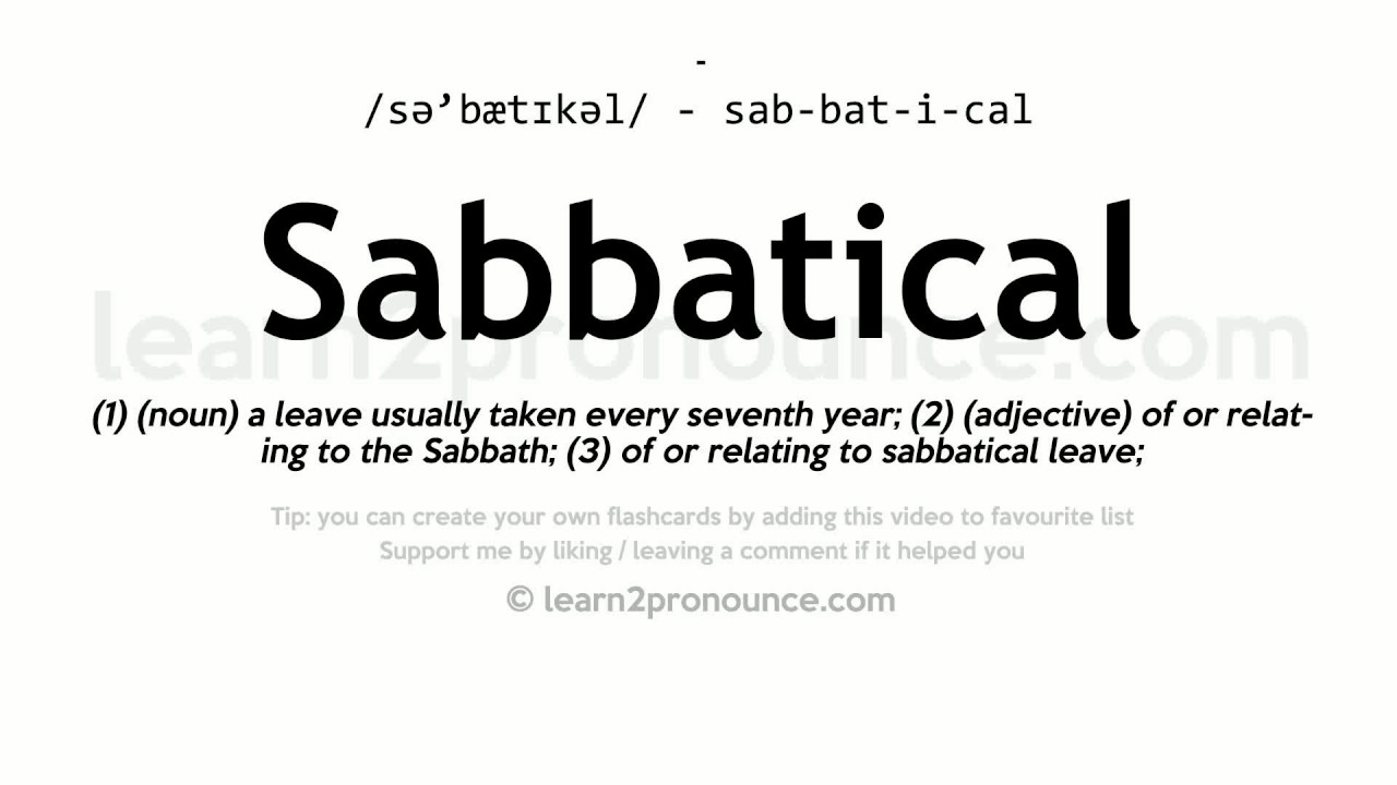 Image result for sabbatical