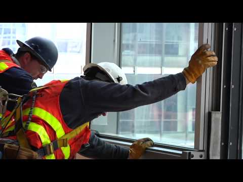 One World Trade Center Glass Installation