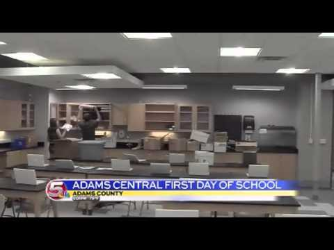 News 5 at 6 - Adams Central High School Debuts New Classrooms / August 12, 2014