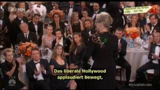 "Meryl Streep attackiert Donald Trump bei den ""Golden Globes"" Los Angeles Cecil B. DeMille"