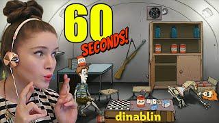 [ОДНИМ ГЛАЗКОМ] Девушка играет в 60 SECONDS! Выживаем в постапокалиптическом мире!