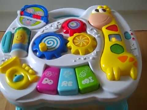 Musical baby toy piano