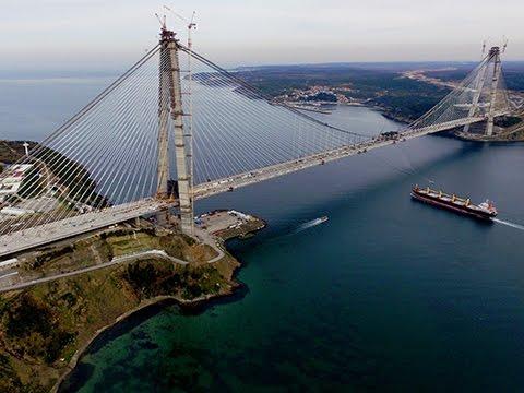 Turkey - Yavuz Sultan Selim Bridge, a new world record for Freyssinet cables