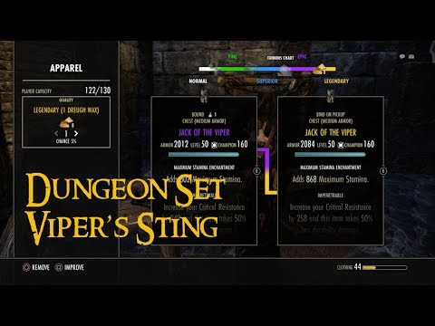 ESO How To Farm The Vipers Sting Set Group  FunnyDogTV