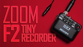 ZOOM F2 Body Pack Lavalier Audio Recorder
