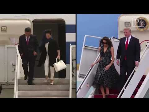 President Trump and Chinese President Xi Jinping arrive at PBIA