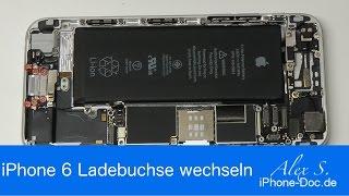 IPhone 6 Ladebuchse USB Lightning Mikro wechseln reparieren Anleitung deutsch