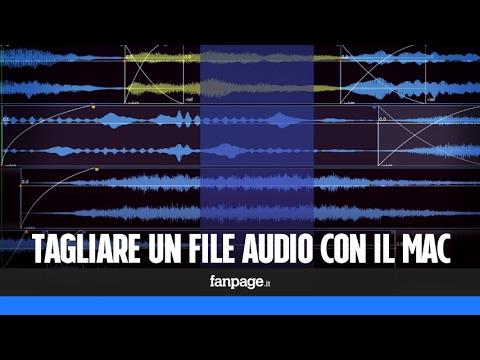 Tagliare file audio con il Mac