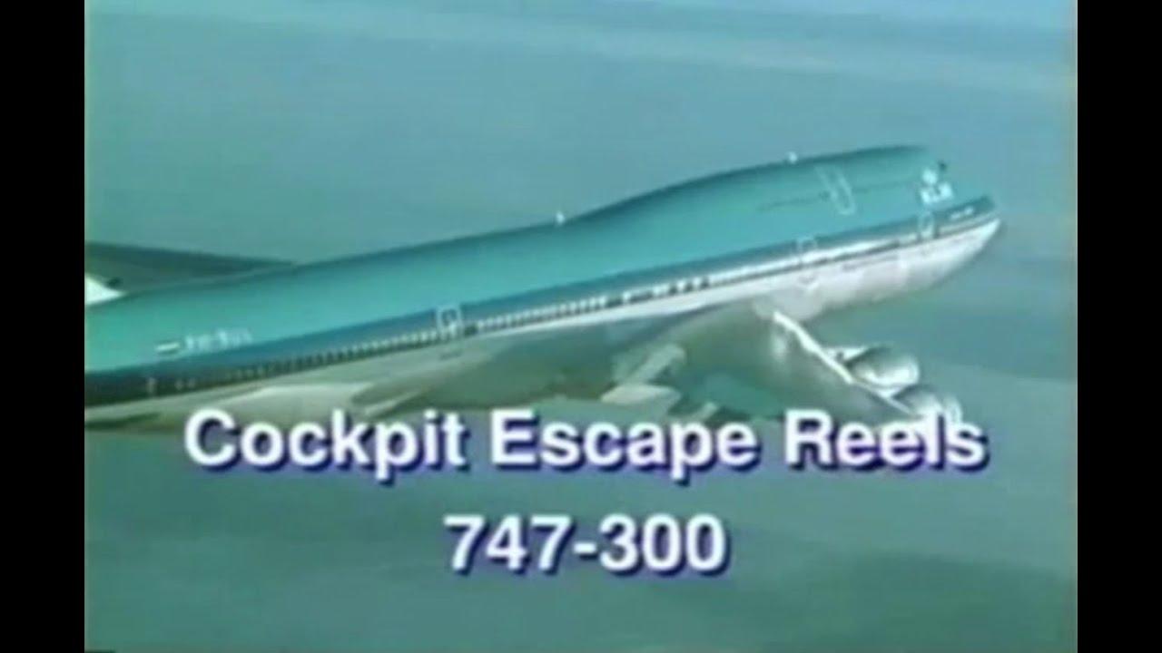 Cockpit Escape Reels 747 300 Youtube